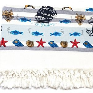 Beach Towel, Printed, 100% Cotton, Made in Turkey